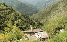 hiking mercantour in the charming village La Brigue on the French Riviera