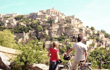 cycling in the luberon famous perched village of gordes roussilon