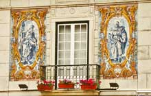 portugal tours from lisbon in street with azulejos