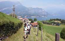 Walking day during a self guided tour in Lake Como