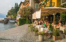 Dinner in Varenna, in Lake Como during the best independent tours of italy