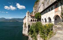 italy hiking tours to lake maggiore in santa caterina del sasso and mottarone